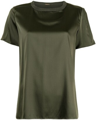 Adam Lippes crewneck silk T-shirt