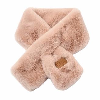 Xinqiao Womens Faux Fur Warm Scarf Soft Wrap Collar Shawl Neck Warmer for Girls (#03 Pink)