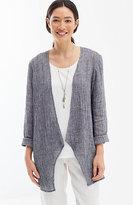 J. Jill Pure Jill Crinkled-Linen Open-Front Jacket