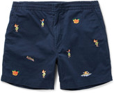 Polo Ralph Lauren - Slim-fit Embroidered Stretch-cotton Twill Shorts