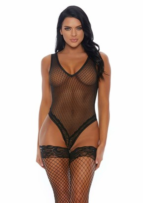 Forplay Women's Video Vixen Lace Cut Teddy