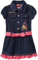 Hello Kitty Girls 4- Denim Dress with Dotted Belt