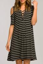 Cherish Cold-Shoulder Swing Dress