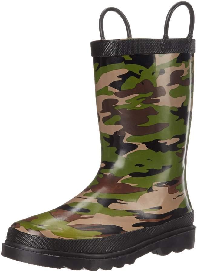 Western Chief Boys Printed Rain Boot, Camo, 5 M US Toddler