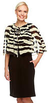George Simonton As Is Crystal Knit Dress w/Zebra Printed Capelet