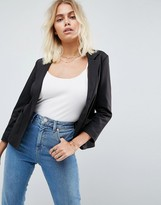 Asos Ponte Blazer With Tailored Collar