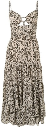 Alexis Jenay geometric-print midi dress