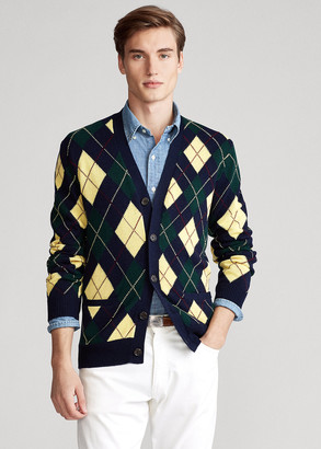Ralph Lauren Argyle Cotton-Blend Cardigan