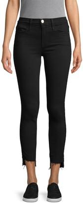 Frame Le High Distressed Step-Hem Skinny Jeans