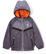Osh Kosh Gray & Orange Hooded Zip-Front Jacket - Infant Toddler & Boys