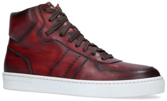 Magnanni Leather Tonal High-Top Sneakers