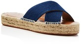 French Connection Denim Crisscross Espadrille Slide Sandals