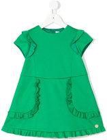 Simonetta a-line dress with frills