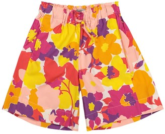 Il Gufo Floral cotton shorts