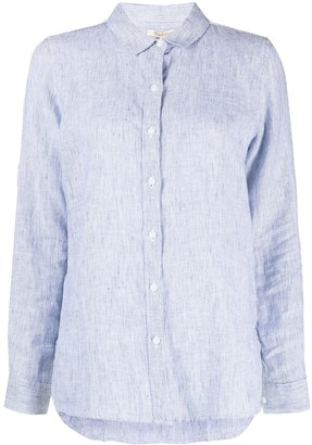 Barbour Fine Stripe-Print Linen Shirt
