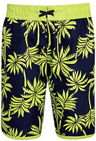 John Lewis Boys' Palm Print Surf Shorts, Multi