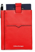 Mackage Vance Leather Passport Sleeve In Flame