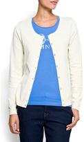 MANGO Basic round neck cardigan