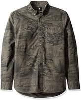 G Star Men's Oxford BTD Pocket Long Sleeve Button Down Shirt
