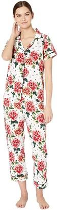 Bedhead Pajamas Short Sleeve Cropped Pajama Set (Room To Bloom) Women's Pajama Sets