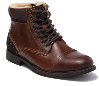Aldo Briewiel Leather Faux Fur Boot