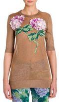 Dolce & Gabbana Hydrangea-Embroidered Lurex Knit