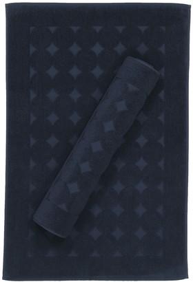 Linum Towels Sinemis Circle Design Bath Mats - Set of 2 - Navy