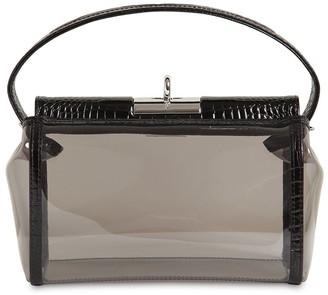 Gu_de Water Pvc & Croc Embossed Leather Bag