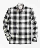 Brooks Brothers Checkered Brushed-Cotton Flannel Sport Shirt