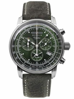 Zeppelin Men's Chronograph Swiss Quartz Movement Watch with Leather Strap 8680-4