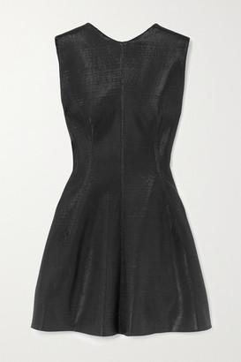 Maticevski Sentiment Metallic Crepe Mini Dress - Black