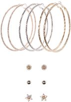 Charlotte Russe Embellished Stud & Hoop Earrings - 6 Pack
