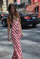 Bias Striped Long Dress - by Emerson Thorpe