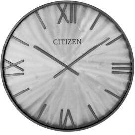 Citizen Silver Metal Wall Clock