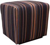 Somers Furniture 18-Inch Outdoor Poolside Ottoman in Sunbrella® Brown/Orange