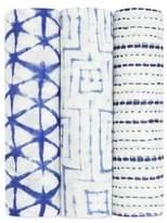 Aden Anais aden + anais Baby's Set of Three Indigo Shibori Swaddle