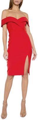 One One Six Sweetheart Off-the-Shoulder Midi Dress