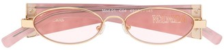 ROWEN ROSE Oval Frame Sunglasses