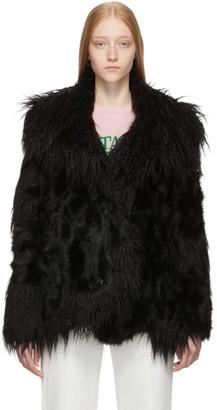 Stella McCartney Black Shaggy Jacket