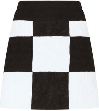 Dolce & Gabbana Patchwork Jacquard Mini Skirt