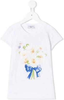 MonnaLisa bouquet print t-shirt