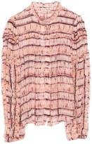 Ulla Johnson Mari Blouse in Blush Tie Dye