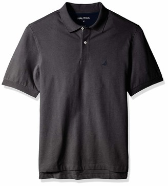 Nautica Men's Big & Tall Short Sleeve Stretch Solid Deck Polo Shirt