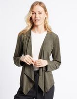 Marks and Spencer Suedette Waterfall Jacket