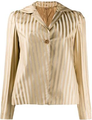 Romeo Gigli Pre Owned 1990's Striped Metallic Jacket