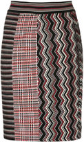 Missoni zig zag knitted skirt