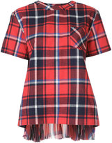 Sacai tartan pattern T-shirt