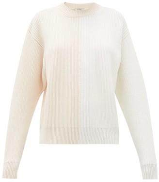 Vaara Eliza Bi-colour Wool Sweater - Womens - Pink White
