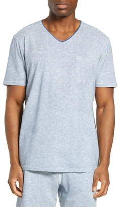 Daniel Buchler Stripe V-Neck Stretch Cotton & Modal T-Shirt