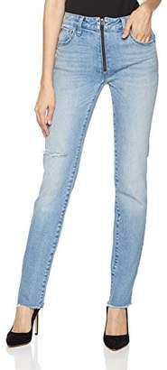 Fly London Hale Women's Coya Slim Straight Cropped Jean with Zipper